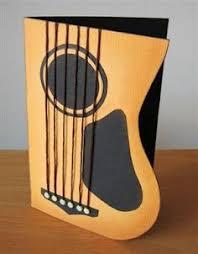 guitar card template i made pinteres