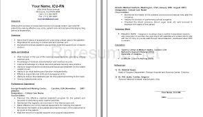 Nursing Resume Samples For New Graduates by Icu Rn Resume Jobs Billybullock Us