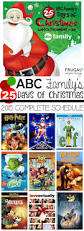 abc family 25 days of christmas 2015 schedule abc family