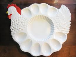 white deviled egg plate chicken shaped deviled egg plate white chicken by rosearborvintage