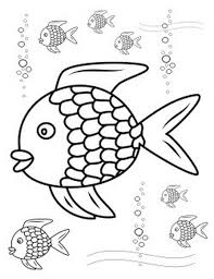 rainbow fish coloring pages funnycrafts