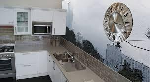 zinc fx kitchen art kitchen splashbacks murals led strip lighting stainless steel clocks by zinc fx melbourne