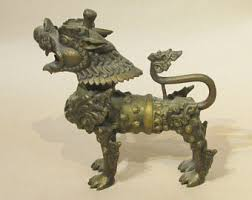 foo dog lion brass foo dog etsy