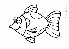 printable free fish coloring clipart panda free clipart images