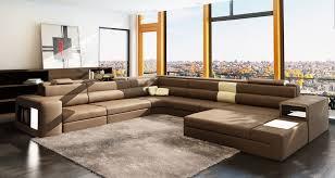 Ital Leather Sofa Casa Polaris Brown Italian Leather Sectional Sofa