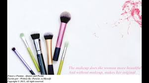 beauty makeup quote the makeup does the woman more beautiful quotes and poems youtube