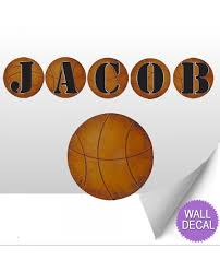 wall letters kids nursery decor basketball alphabet stickers