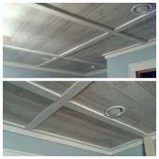 How To Finish A Basement Ceiling by Love This Beadboard Alternative To A Drop Ceiling Awesome