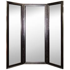 hitchcock butterfield company vintage silver three 3 panel mirror