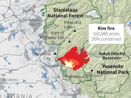 Map Of Yosemite This Map Shows How Rapidly The Yosemite Wildfire Spread In Just