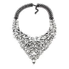 crystal collar statement necklace images Best lady color hot crystal gem luxury bridal v shaped rhinestone jpg