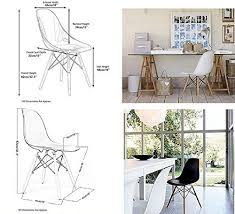 Eames Eiffel Armchair Set Of 4 Eames Eiffel Dsw Style Side Dining Chair Eleranbe 18