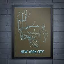 Ny Transit Map New York Subway Map Art New York Map
