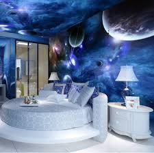 Bedroom With Stars Custom Photo Wallpaper Large Indoor Decoration Bedroom Mural