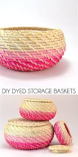 diy dyed storage baskets dream a little bigger