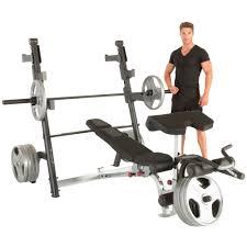 ironman x class weight bench with preacher curl and leg developer