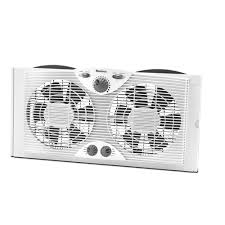 dual window fan reviews holmes 9 in dual blade window fan with comfort control thermostat