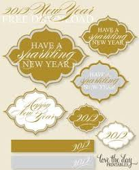Modern New Years Eve Decorations by Free New Years Eve Printables With Modern Chevron At Midnight