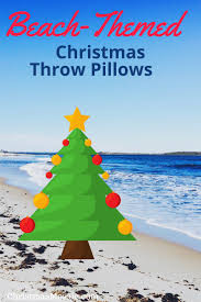 beach themed christmas throw pillows christmas mosaic