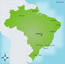 Rio On Map Brazil Map With Cities