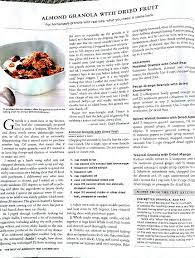 Granola recipe from America s Test Kitchen Cook s Illustrated