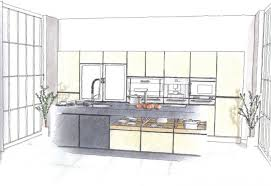 contemporary kitchen design sketch concept layout rough e inside