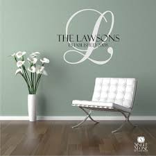 Monogram Wall Decals For Nursery Family Monogram Vinyl Wall Decals Monogram Vinyl Wall Decal