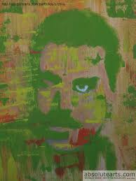 Shades Of Green by Crina Iancau Artwork In Shades Of Green Original Painting Oil