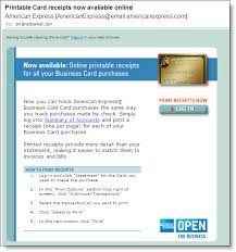 american express business card login card receipts from american express finovate