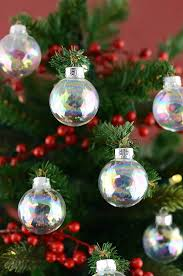 clear glass 1 37in ornament balls iridescent 35mm