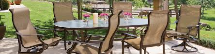 patio furniture set montreux sling patio furniture tropitone