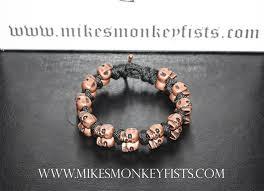 bracelet skull beads images Paracord bracelet with copper skull beads gif