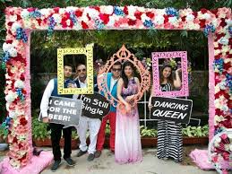 photo booth wedding beautiful outdoor pre wedding brunch of priyanka and digant in