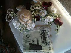 diamond wedding anniversary cake with handmade vintage rose