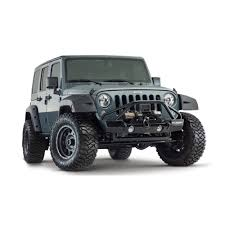 jeep rubicon white 4 door bushwacker wrangler jk fender flare pocket style factory coverage