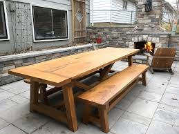 farm tables with benches farmhouse table benches the wood whisperer guild