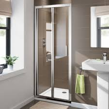 900mm Shower Door 6mm Elements Easyclean Bifold Shower Door