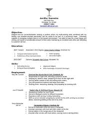 Resume Template For Bartender Resume Objective Objective For Resume In Retail Sles Of
