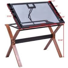 top drafting table office home adjustable art hobby glass top drafting table drawing