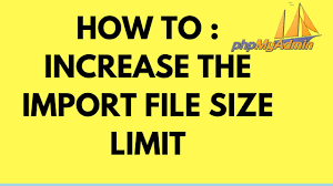 How To Increase Import File Size Limit In Phpmyadmin Tutorial