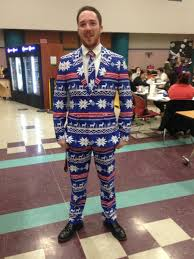 Meme Christmas Sweater - i beat your ugly sweater and raise you an ugly suit keeping