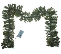 bethlehemlights batteryoperated 9 prelit garland with timer