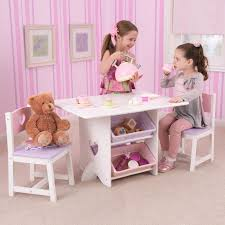Table And Chair Sets Lipper Hugs And Kisses Table And 2 Chair Set White U0026 Pink
