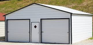 metal garage kits by hippostructures com this 2 car garage is