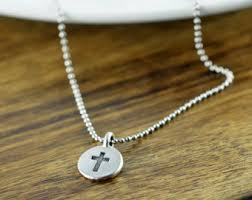 cross pendant cross necklace silver cross necklace mens