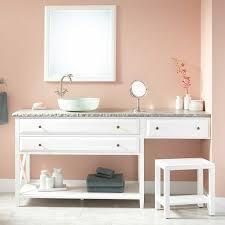 image of remarkable double sink bathroom vanity with makeup area