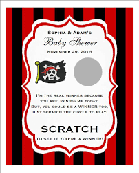 baby shower scratch pirate buccaneer baby shower scratch pavia