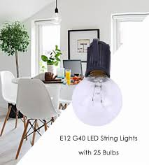 best sale ac 110v 24w e12 g40 led string lights with 25 globe