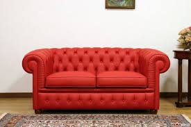 15 best collection of red leather chesterfield sofas