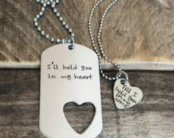 Personalized Dog Tags For Couples Military Couple Etsy